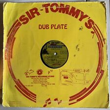 "Dubplate BUSHMAN COPPER CAT SIMPLETON Acetate METAL 10"" Reggae Soundclash Lp"
