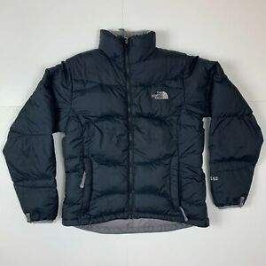 Women's North Face 550 Goose Down Puffer Jacket Black Size Small