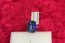 Mystic Neptune Quartz Sterling Silver Ring Size 9 10.15 Cts