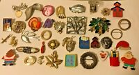 JEWELRY LOT Brooch Pin Hat Pins Gold Silver SIGNED Gerry Sarah Cov Czecho Emmons
