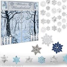 Christmas Party Snowy Winter Wonderland Snowflake Decoration Kit Set Pack