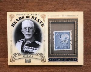 Gustaf V 2020 Goodwin Heads State Vintage Stamp HS-27 King of Sweden