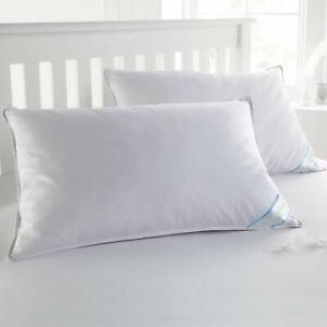 Standard Queen Size Feather Goose Down Bed Pillow Set of 2 Pillows Bedding White