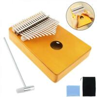 17 Keys Thumb Piano Kalimba Single Board Pine Ore Metal Mini Keyboard Instrument