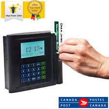 Acroprint timeQplus Barcode Swipe Time and Attendance System Clock New
