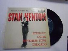 Stan Kenton Popular Favorites By [Big Band] EP 45 RPM Capitol Records VG+