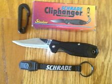 SCHRADE USA CLIPHANGER SHADOW CH4 SERRATED EDGE NEW IN BOX RARE