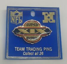 VIintage Super Bowl XIX San Francisco 49ers vs Miami Dolphins Lapel Hat Pin New