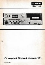 Service Manual-Instructions pour UHER Compact Report Stereo 124