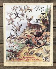 REMINGTON Game Load Game Vintage Tin Metal Sign