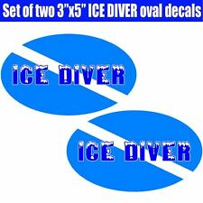 Ice Diver Down scuba sticker decal oval laminated graphic toolbox tank ready