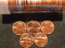 1989 P OBW LINCOLN CENT ROLL ORIG NF STRING BANK WRAP