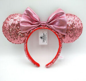 Disney Parks New Minnie Ears Light Purple Bow Sequins Cos Headband