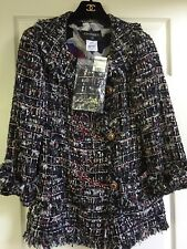 Chanel 10C NEW TAGS Tweed LESAGE Multicolor Jacket Coat Gripoix buttons FR42 $9K