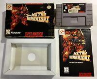 Metal Warriors Super Nintendo SNES CIB Complete Rare Konami