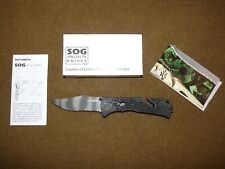SOG Trident Tactical Assisted Open SAT Folding Knife (Tiger Stripe) - New