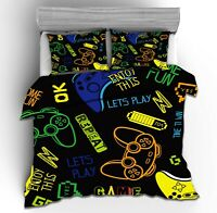 3D Gamer Video Game Bedding Duvet Cover Twin Boys Comforter Cover Pillowcase 11#
