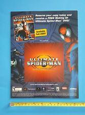 Ultimate Spider-Man Store Display Video Game Promo Sign Activision 2005 Venom