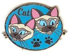 SI AM SIAMESE Lady & The Tramp CATS CAST LANYARD CAT SERIES 2002 Disney PIN