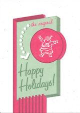 Christmas Card Rock Paper Scissors Retro Santa The Original Happy Holidays Sign