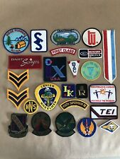 Lot Of 25 Vintage Embroidered Patches Badge Collection School Military Auto YMCA