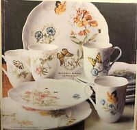 New 12 Piece Set Lenox China Butterfly Meadow