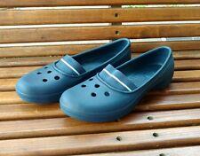 juneau crocs womens sz 8 navy blue mary jane style