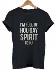 I'M FULL OF HOLIDAY SPIRIT (GIN), GINgle Bells, Christmas, funny T Shirt, Top