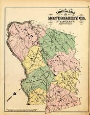 1878 Atlas Montgomery County Maryland plat maps Genealogy history P69