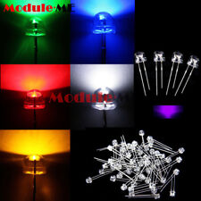 50 x LED 5mm straw ha UV travioleta 90-120 ° brevemente cabeza plana cabeza Purple