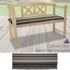 Ellister 3 Seater Bench Cushion - Green Stripe 140cm