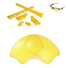 New Walleva Yellow Lenses And Rubber Kit For Oakley Flak Jacket XLJ
