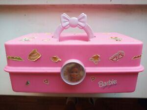 Vintage 90s CABOODLES BARBIE Makeup & Accessory Case Pink