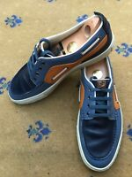 Gucci Mens Trainers Sneakers Blue Orange Leather Shoes UK 9 US 10 EU 43 Boating