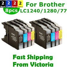 8x Ink Cartridges LC40 LC73 LC77 LC1240XL for Brother MFC J432W J625DW J6910DWDW