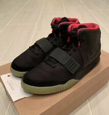 94cf2b8ee Nike Air Yeezy 2 NRG Solar Red Black  Black  Solar Red SZ 9 Authentic