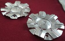Golden Wheel Wheels Chrome Custom Wheel Center Caps Set of 2 # C12002-CAP