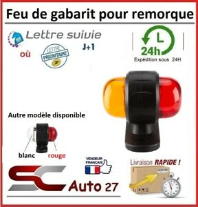 Feu de remorque,semi-remorque rouge/orange/position latéraux 10-30 volt vendu x2