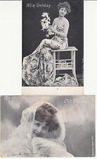 Lot 2 cartes postales anciennes ACTEURS THÉATRE OPÉRA DELMAY