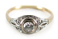 Antiker Ring ca. 1920 mit Diamanten 585 Gold mit Pt-Auflage [BRORS 14566]