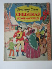 Vintage 1936 Treasure Chest of Christmas Songs & Carols Sheet Music Songbook