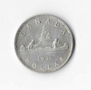 1950 Canadian Silver Dollar (AU-50)