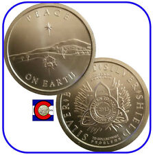 """2013 SBSS """"Peace on Earth"""" Silver Coin - Silver Bullet Silver Shield in airtite"""