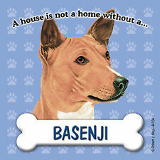 Basenji Dog Magnet Sign House Is Not A Home
