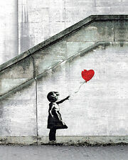 Red Balloons by Banksy Urban Street Girl Graffiti Print Poster 16x20