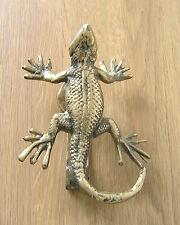 Lizard Door Knocker Cast Brass Polished Finish