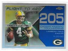 Brett Favre 2008 TOPPS CHROME vuelo a 420 Refractor #4/5 Camiseta #