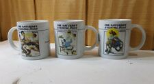 Norman Rockwell Saturday Evening Post Coffee Cups / Mugs 1992 Euc (Su6)