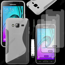 Coque Silicone S-line Transparent Samsung Galaxy J3 2016 Mini Stylet 3 Films