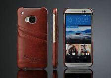 HTC One M9  Handy Hülle Bumper Case Leder Cover Tasche Schale Schutz  Kartenslot